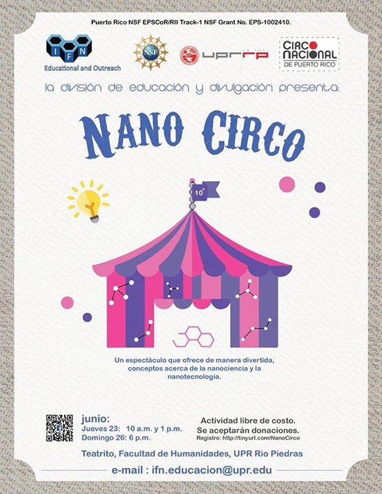 Nanocirco at university of puerto rico rio piedras campus for Rio grande arts and crafts festival 2016