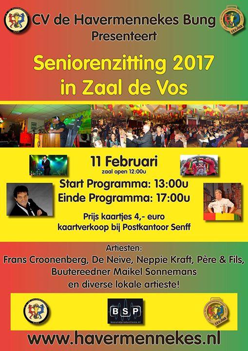 Seniorenzitting 2017 at Zaal De Vos, Bunde