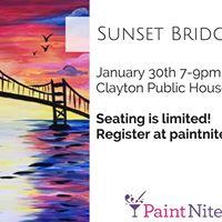Sunset Bridge III - Paint Nite
