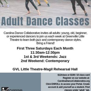 Adult Dance Classes with CDC at Greenville Theatre, Greenville