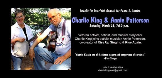 Charlie King & Annie Patterson in concert