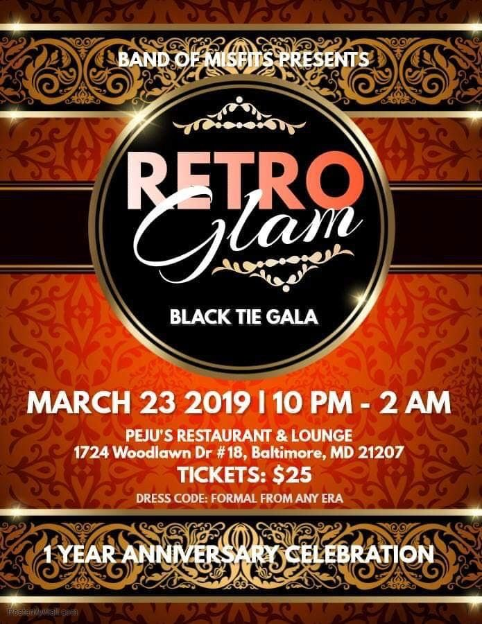 Retro Glam Black Tie Gala