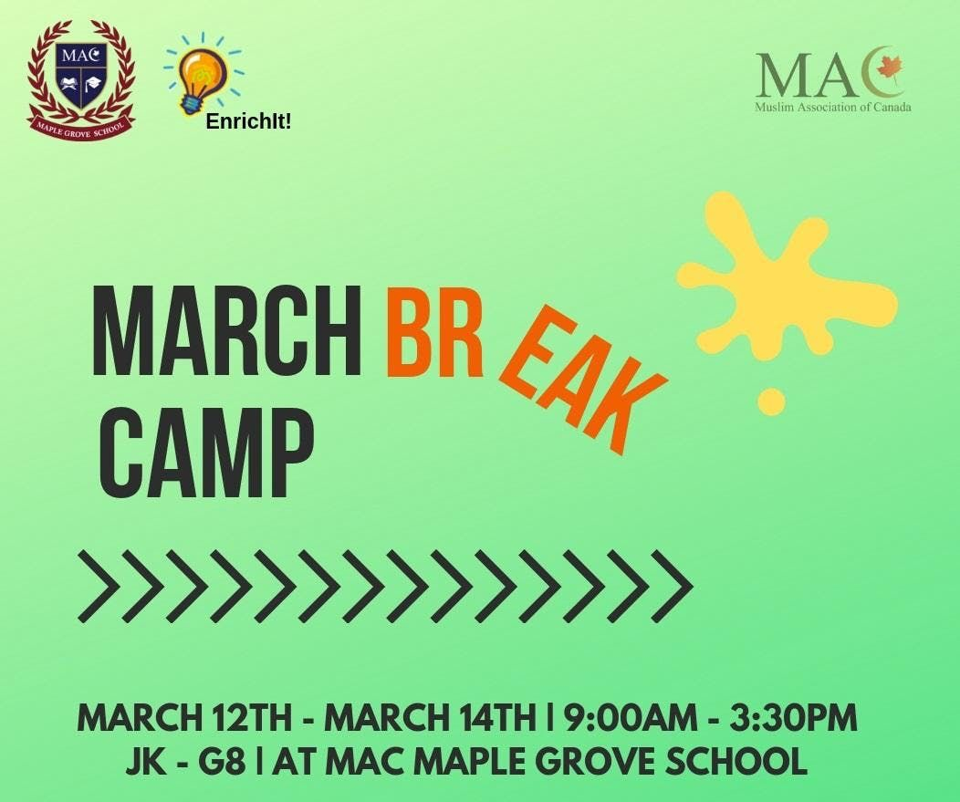 EnrichIt March Break Camp 2019 - Grades 5 to 8