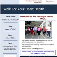 Walk For Your Heart Health at the Patchogue Family YMCA
