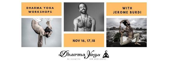 Dharma Yoga Workshops - Jerome Burdi