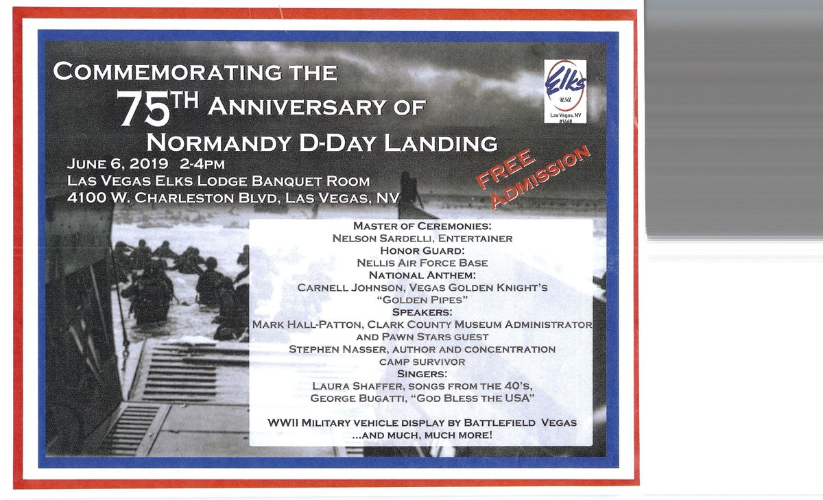 Commemrorating the 75th Anniversary of Normandy D-Day