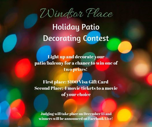 Holiday Patio Decorating Contest