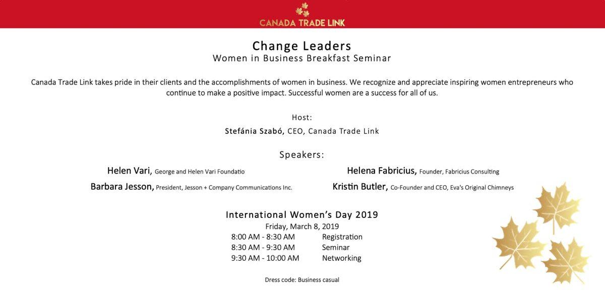 Change Leaders - Women in Business Breakfast Seminar
