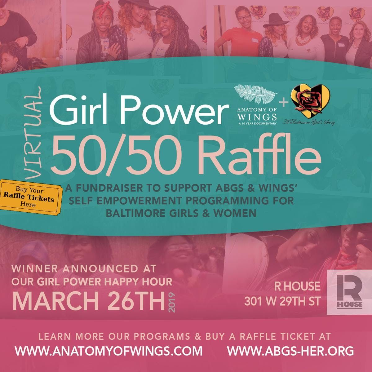 5050 Raffle for Girls Self Empowerment Programming with Wings & ABGS