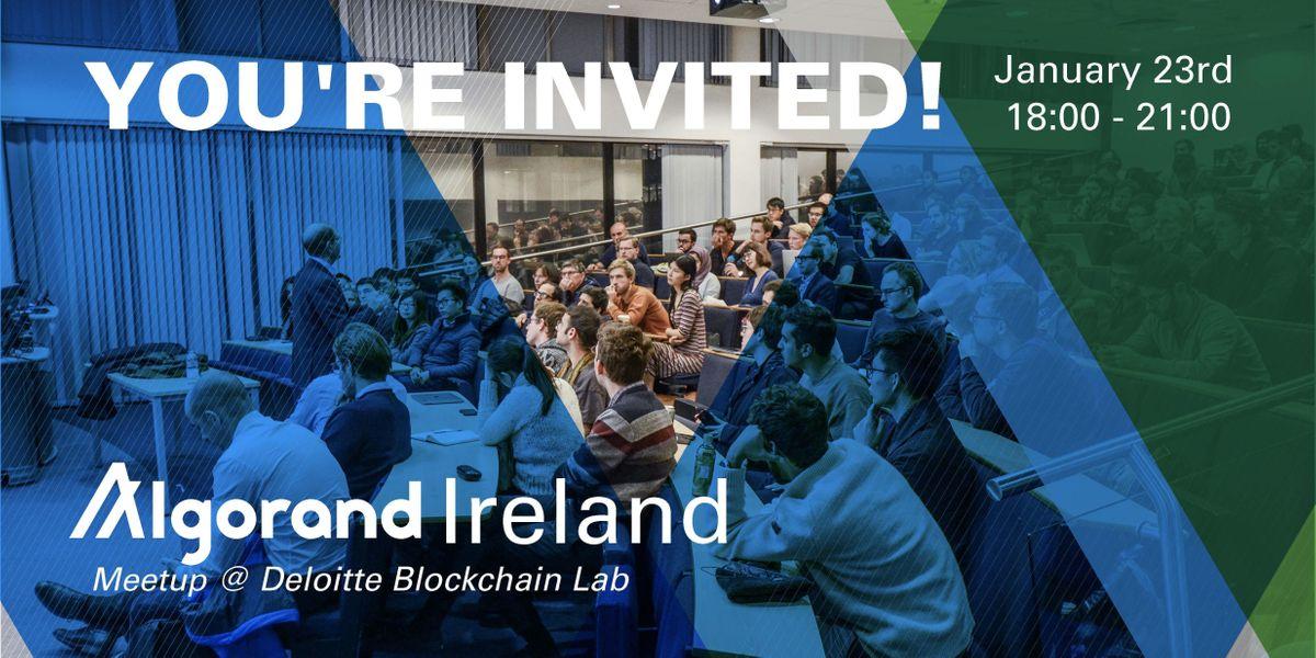 Algorand Ireland Developer Meetup Build Your Opportunity