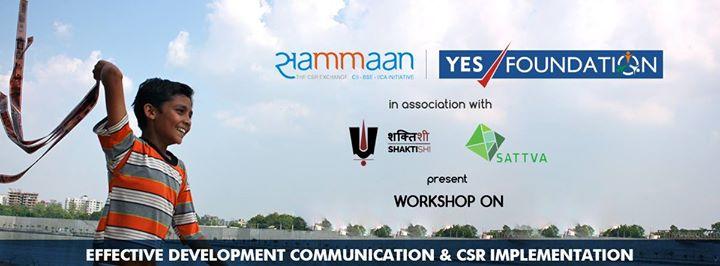 Effective Communication & CSR Implementation Workshop