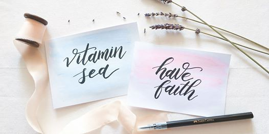 Brush Calligraphy with Gelatos by Melody of Wild Lavender Studio