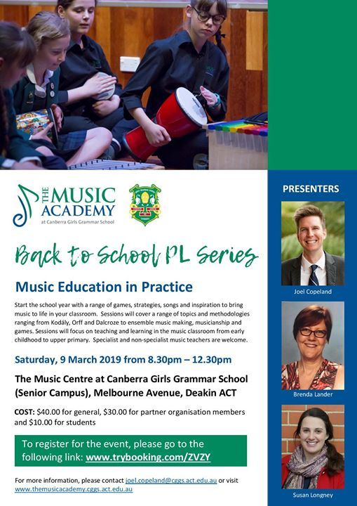 15ec200b5 Back to School - Music Education in Practice at Canberra Girls ...