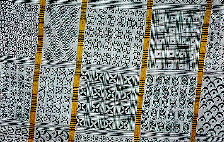 youth art workshop adinkra cloth at frontier culture museum of