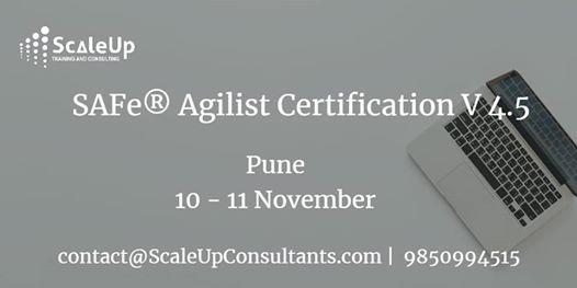 SAFe Agilist V4.5 Certification Workshop  Pune 10-11 Nov 18