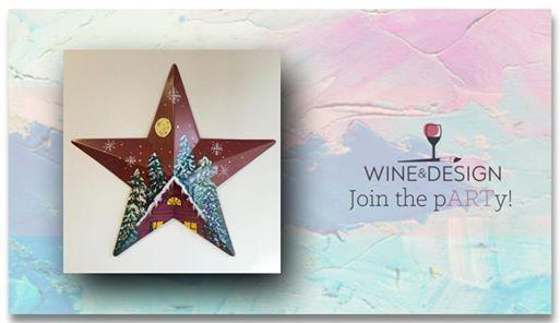 Paint Sip Winter Cabin Barn Star At Wine Design Stafford Va