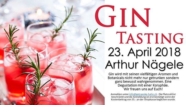 Gin Tastin mit Arthur Nägele at Getränke Hahn AG, Frauenfeld
