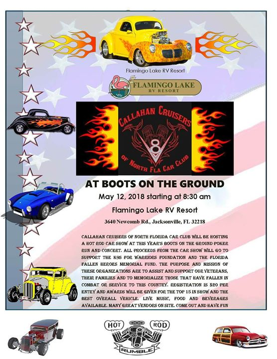 BOOTS ON THE GROUND CAR SHOW At Flamingo Lake RV Resort Approved - Car show jacksonville fl 2018