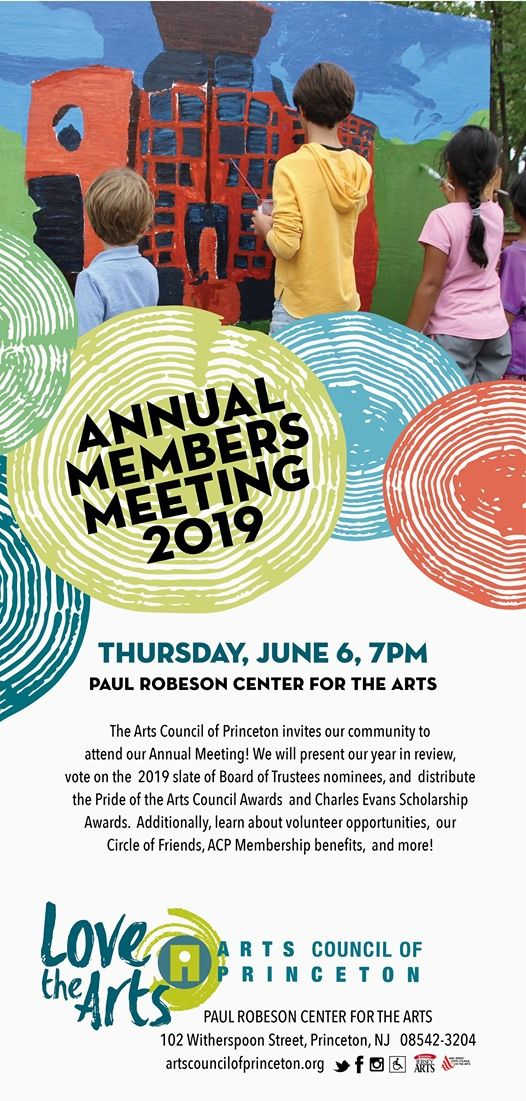 Annual Members Meeting 2019 at Arts Council of Princeton