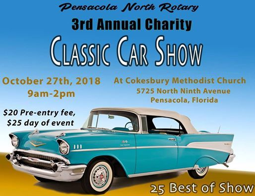 Pensacola North Rotary Rd Annual Classic Car Show At Cokesbury - Florida classic 2018 car show