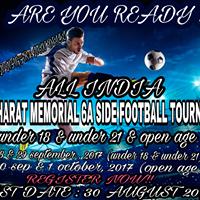 ALL INDIA 3rd bharat memorial football tournament