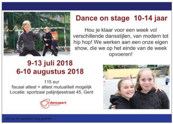 Dance on stage 10-14 jaar (9-13 juli)