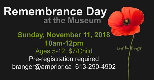 Remembrance Day at the Museum