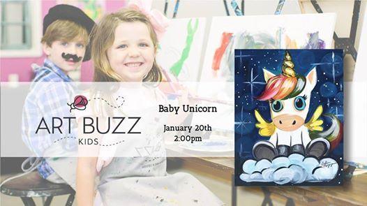 Art Buzz Kids Class  Baby Unicorn