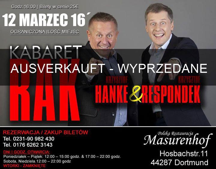 Kabaret Rak Dortmund Ausverkauft At Masurenhof Dortmund