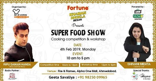 SUPER FOOD SHOW - Cooking Competition & Workshop