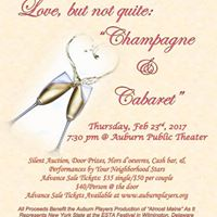 Love but not quite Champagne and Cabaret
