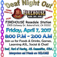 Deaf Night Out at Firehouse Rosedale Station