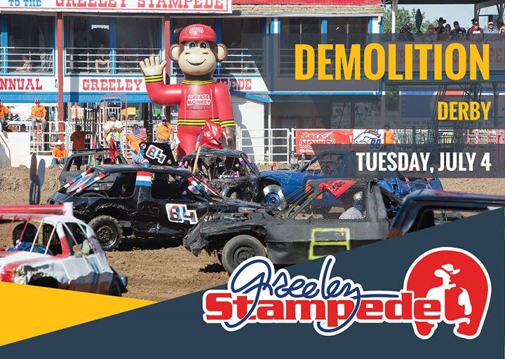 Demolition Derby At Greeley Stampede Greeley