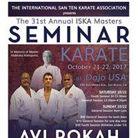 31st Annual ISKA Masters Seminar w Sensei Avi Rokah