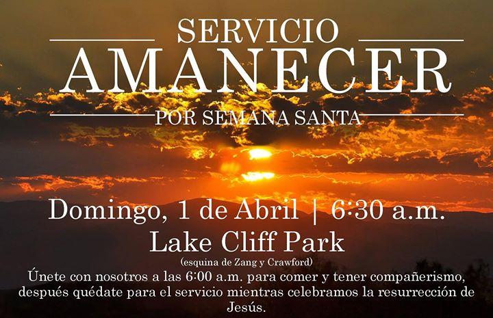 Servicio especial de Semana Santa Amanecer
