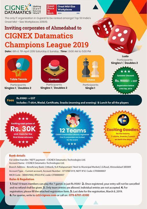 CIGNEX Datamatics Champions League 2019