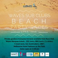 Waves Sub Clubs Beach Party Races