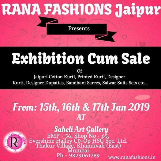 Exhibition Cum Sale By Rana Fashions Jaipur