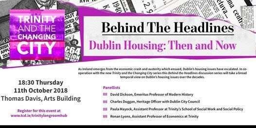 Behind the Headlines Dublin Housing Then and Now