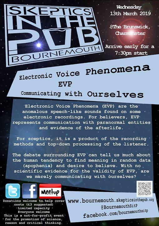EVP - Electronic Voice Phenomena at Brunswick Pub, Bournemouth
