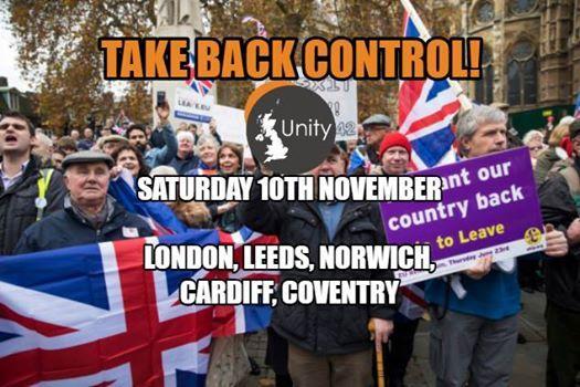 Brexit Now Rallies Sat 10th Nov 1200