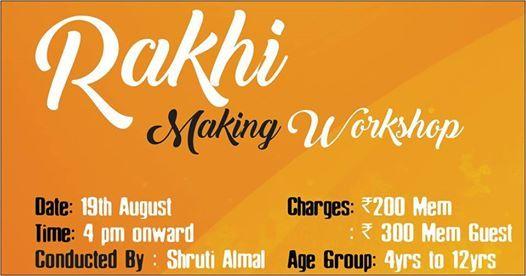 Rakhi Making Workshop