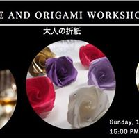 Wine and origami workshop