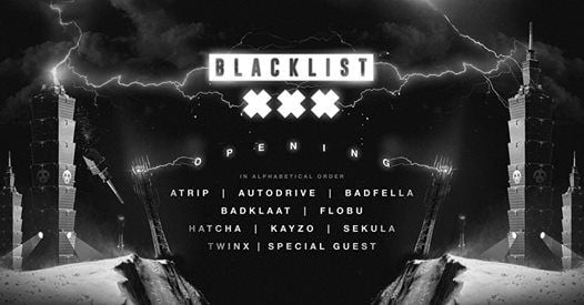 SOLD OUT Blacklist Opening