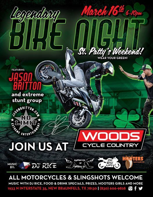 Woods Cycle Country Bike Night with Jason Britton and Hooters at