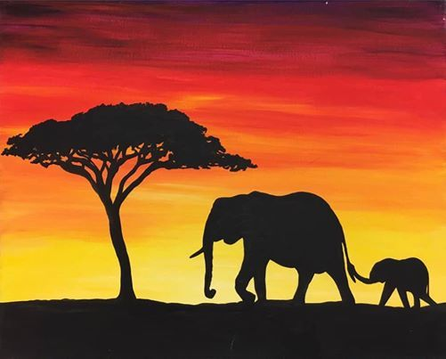 Paint it Up - African Sunset