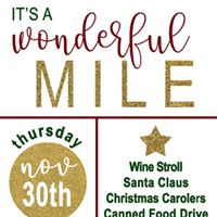 Miracle Mile holiday event &amp wine stroll