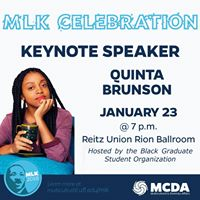 UF MLK Keynote Speaker Featuring Quinta Brunson