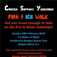 Fire &amp Ice (Glass) Walk for Cancer Support Yorkshire