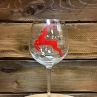 Salvage Steakhouse Holiday Wine Glass Painting